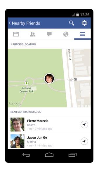 تحديد مكانك عن طريق الفيسبوك